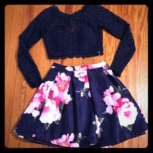 Sequin Hearts two-piece dress